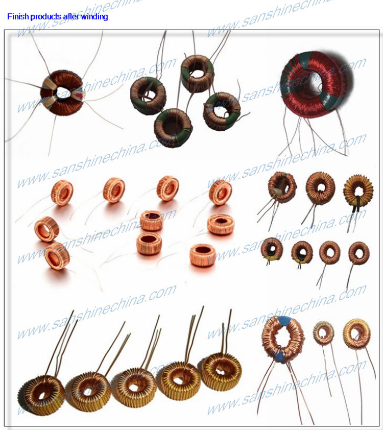 DC to DC converter toroid inductor winding machine