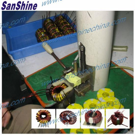 Hook coil winding machine
