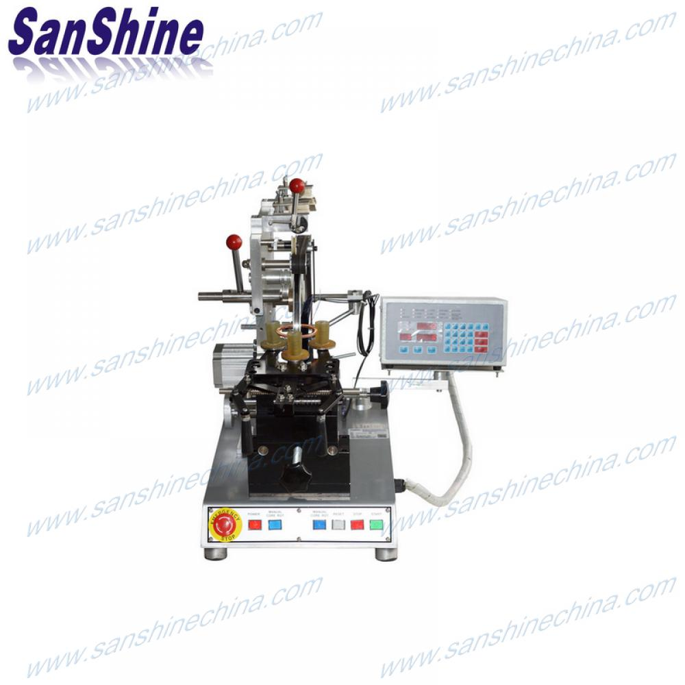 Belt type big automatic toroid coil winding machine