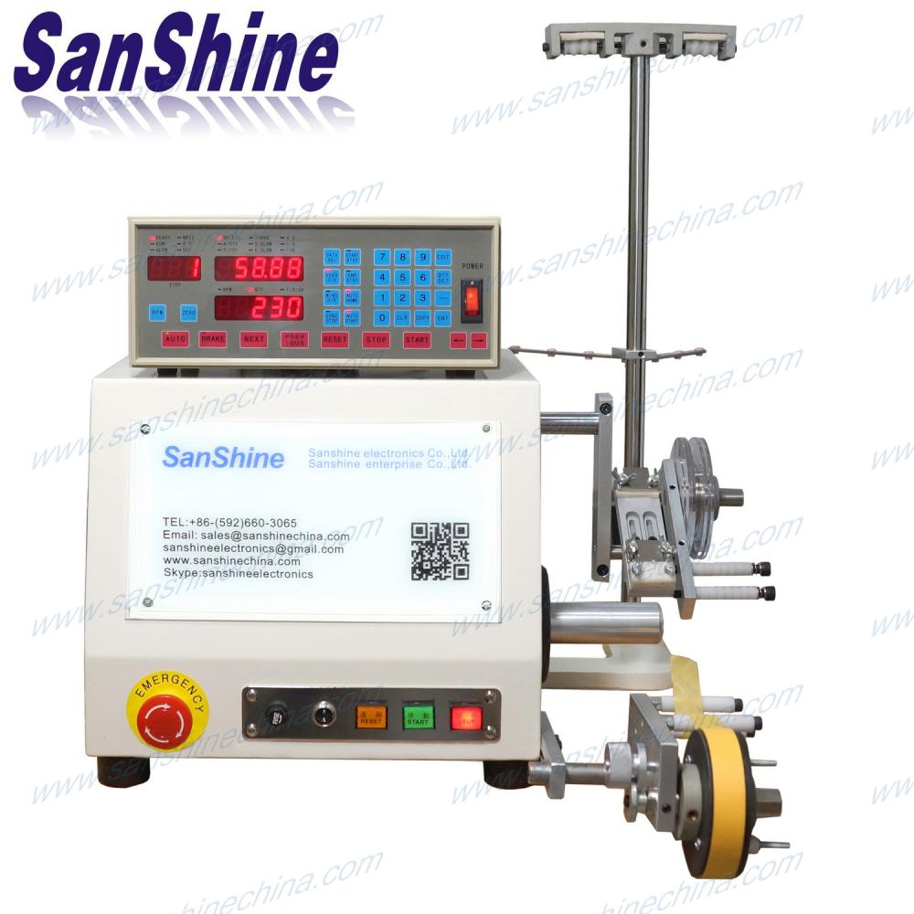 Single spindle programmable automatic transformer coil winding machine