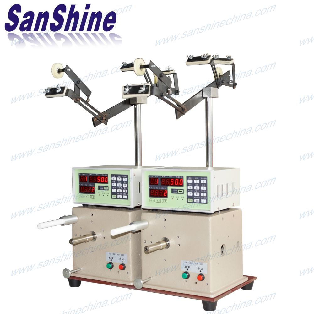 Two spindles drum core inductor winding machine